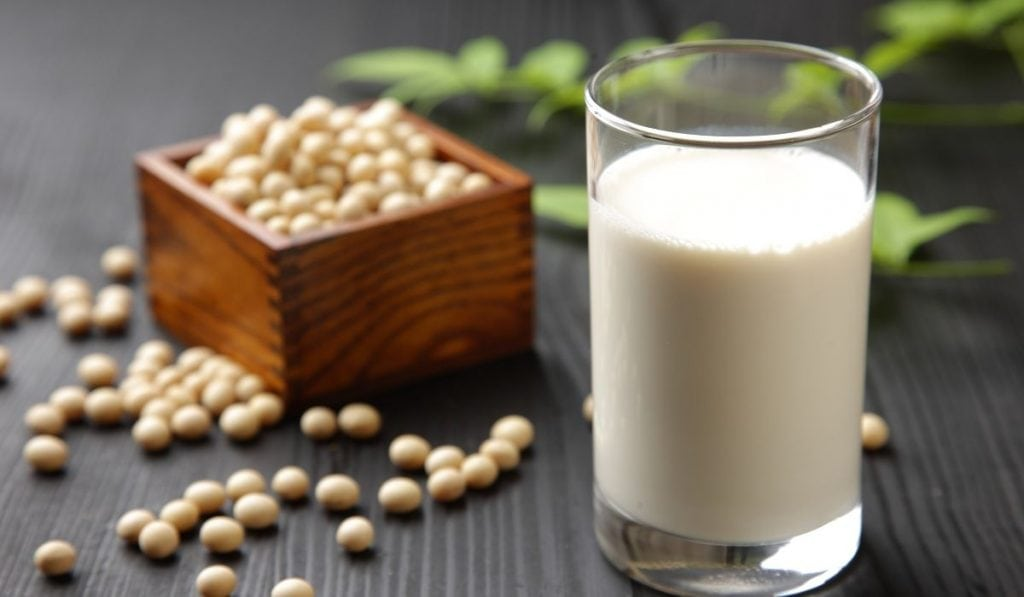 Soy milk In Glass